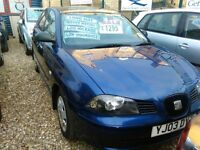 2003 seat ibiza 1.2 petrol only 65.000 miles 2 door hatch back