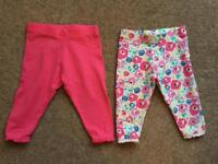 Baby girl's leggings - 3-6mths