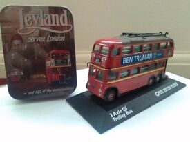 3 AXLE QI Trolley Bus great British buses diecast vehicle model collectors rare