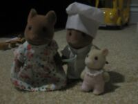 Sylvanian Families Brown Mouse Couple and Baby