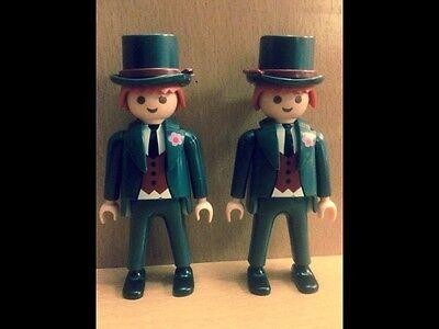 Playmobil pareja de novios para boda tarta