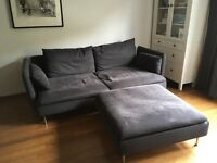 Ikea Sofa and footstool very good condition