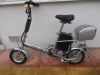FOLDING ELECTRIC BIKE-MAKES CYCLING EASY, ESPECIALY HILLS