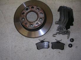 vw golf mk5 rear brake disc and caliper os rear
