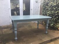 Farrow and Ball painted pine table