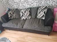 3 seater sofa with swivel chair