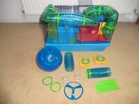 Hamster cage and exercise ball