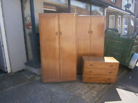 VINTAGE ERCOL CHEST OF DRAWERS IN YEOVIL RETRO KITSCH GOLDEN DAWN FINISH CHEST OF DRAWERS