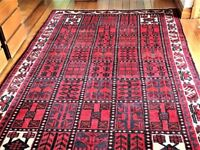 IKEA Flatwoven Red/Cream Oriental Patterned Rug 240x160cm - Good Condition