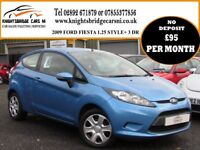 2009 FORD FIESTA STYLE + 1.25 3DR 2 OWNER 67521 MILES FULL SERVICE HISTORY EXCELLENT CONDITION