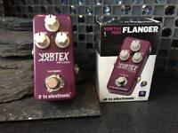 Vortex Mini Flanger Guitar Effect Pedal TC Electronic