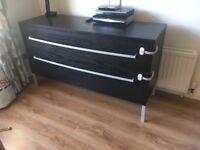 2 Drawer Set - Deep drawers - storage - living room / bedroom furniture - TV stand