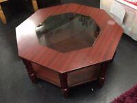 Octagon Shape Coffee Table