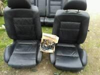 V w golf leather seats