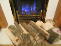 GOOD SEASONED FIREWOOD . decent chunks, ( 1 TON BAG )