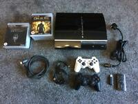 PS3 40Gb HDD 2 controllers 12 games
