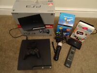 PS3 Slim 320GB console bundle - Playstation move starter pack, Play Tv , Blueray Dvd remote control