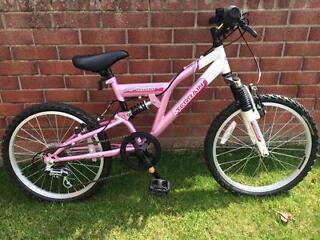 "Girls' mountain bike 20"" pink"