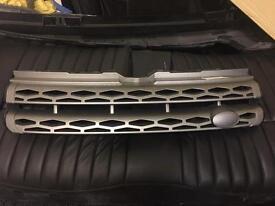 Land Rover Range Rover evoque grille grill grey silver