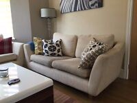 Beautiful contemporary Fabric 3 seater and 2 seater sofa for sale! Grab the bargain