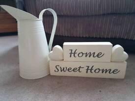 Cream jug and plaque
