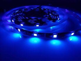 5M 12V REAL UV Ultraviolet Strip Light Tape Light Fake Bank Note Check Detector