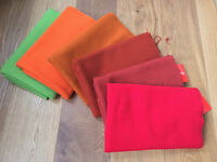 High Quality Danish Wool Fabrics samples in various colours