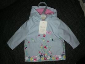 BNWT newborn lined raincoat