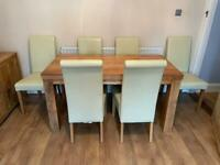 Solid Mango matching dining room furniture