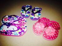3 paire de sandale neuf pour fille size 6-7