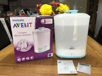Avent electric steam steriliser, boxed, £50 new!! as new, smoke and pet free house