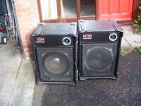 Pair Vintage HH Pro15 PA Speakers