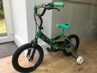 Child's 2 wheeler bike with stabilisers