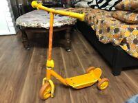Kids Mini Push Scooter! Unisex! Orange Colour! - House Clearance - Bargain!