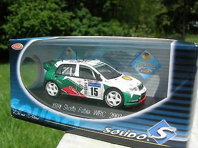 SOLIDO 1/43 METAL SKODA FABIA WRC 2003 1591