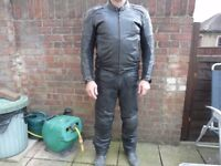 Hein Gericke Leather Waterproof Motorbike Jacket & Trousers
