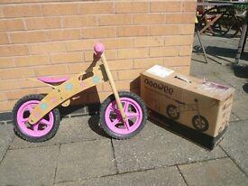 "Wooden balance bike 12"" wheels"