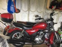 Yamaha 125 custom, red, 09 plate, only done 4865