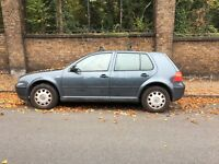 Volkswagen Golf Mk4 1.6 02 plate MOT for repair or spares