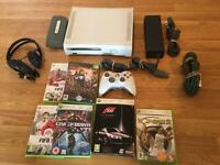 60gb Xbox 360 CONSOLE with 6 GAMES & GAMING HEADSET £30 no offers