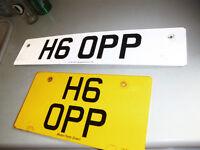 H6 OPP , CHERISHED REGISTRATION FOR SALE , ON DVLA RETENTION CERTIFICATE ,EASY TRANSFER ,