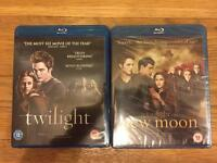 Twilight and Twilight New Moon Blu-Rays (latter brand new and wrapped)