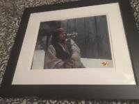 Signed Johnny Depp picture in frame