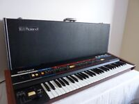 Roland Juno 6 synthesiser in superb condition with case