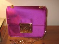 M&S Purple / Magenta Clutch Bag with Shoulder Strap Brand New with Tags