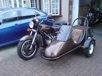 Honda GL1100 Goldwing and sidecar