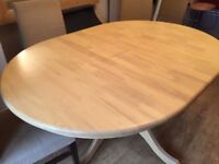 pine dining table.