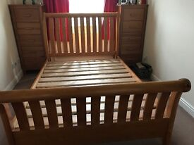Double frame pine bed