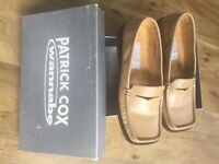 Patrick Cox Wannabe sand loafers size 39.5