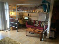 Double Scaffolding Loft Bed ~ High Sleeper Industrial Bed